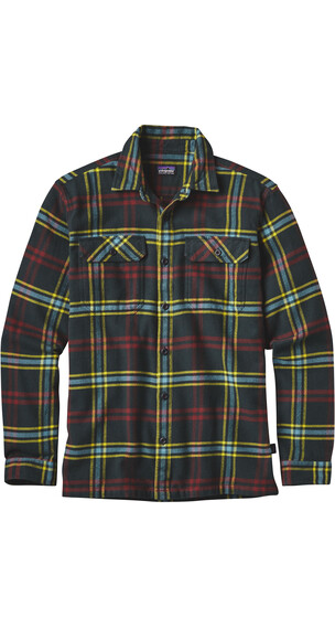Patagonia M's Fjord LS Flannel Shirt Windrow: Carbon